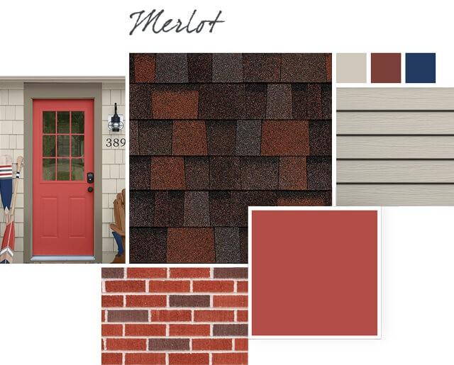 Owens Corning Shingles - Merlot - Design Palette 2
